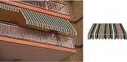GIARDINI DEL RE Tenda da sole a caduta avvolgibile per balcone H 300x250 TESS.P6002