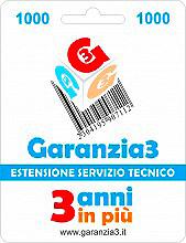 Garanzia 3 EXTGAR2 Estensione del Servizio Tecnico Fino A 1.000,00 Euro