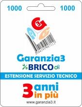 Garanzia 3 EXTGARBRICO1000 Brico - Estensione del Servizio Tecnico Fino a 1000,00 Euro