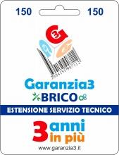 Garanzia 3 EXTGARBRICO150 Brico - Estensione del Servizio Tecnico Fino a 150,00 Euro