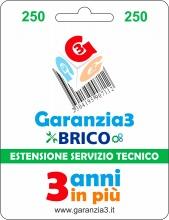 Garanzia 3 EXTGARBRICO250 Brico - Estensione del Servizio Tecnico Fino a 250,00 Euro