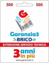 Garanzia 3 EXTGARBRICO500 Brico - Estensione del Servizio Tecnico Fino a 500,00 Euro