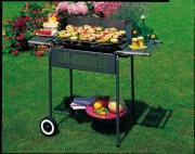 Garden Friend B1072142 Barbecue a carbonella BBQ 60x42cm acciaio con griglia