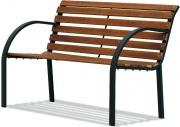 Garden Friend P1007201 Panchina da Giardino in legno e ghisa 125x52x74 h cm