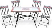 Garden Friend S1011005 Tavolo e Sedie da Giardino 4 sedie