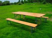Garden Friend S1011601 Set birreria Tavolo in legno con 2 panche 200x80cm