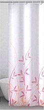 """GEDY TTE 1320 1830 Tenda per doccia 180 x 200 cm """"Flora"""" Rosa e Giallo"""
