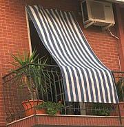 Gemitex 0804140240RPITE Tenda da sole per balcone Cotone 140x240H Blu rigato  Sun