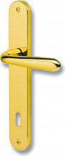 GHIDINI Maniglia porta interna Placca foro Patent 90 mm Oro lucido Serie GM05