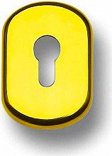 GHIDINI 77298625012 Bocchetta Serratura protezione per serrature Yale Oro Lucido