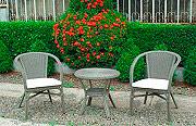 Giardini del Re ANITA Salotto Giardino Rattan Salottino Esterno Tavolino Poltrone