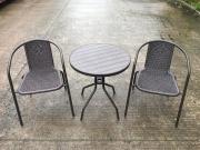 Giardini del Re PRF002 Set tavolino sedie giardino Salottino da esterno 3 pz Tiffany