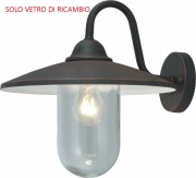Giardini del Re Vetro Lanterna Portofino Vetro di Ricambio lampada Lanterna Esterno Portofino