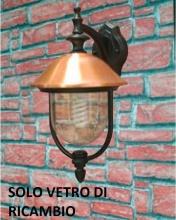 Giardini del Re Vetro Ricambio Lanterna Copper Vetro di Ricambio lampada Lanterna Esterno Coplampada