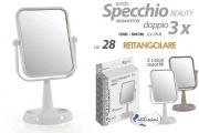 Gicos 806780 Specchio Girevole Ingrandimento cm 28h Rettangolare