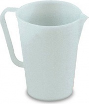 Giganplast 1800HD1 Caraffa Graduata 0,5 Litri in Plastica Becco versatore Bianco