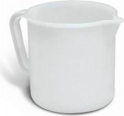Giganplast 1825P1 Caraffa Graduata 1 Litro in Plastica Becco versatore Bianco 1852P1