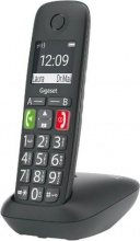 Gigaset 0766576-B Telefono Cordless con Vivavoce Dect Gap Senior Nero  E290