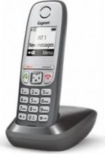 Gigaset 159280 Telefono Cordless Vivavoce Sistema DECT GAP 100 voci Grigio AS405