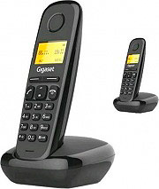 Gigaset A170 DUOBK Telefono Cordless DUO Dect GAP 50 Voci Rubrica Id Chiamante