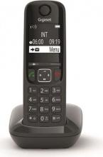 Gigaset AS690 Telefono Cordless Vivavoce Sistema DECT GAP 150 Memorie Nero