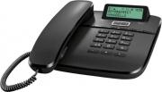 Gigaset DA611 Telefono Fisso Vivavoce telefono con Filo Rubrica 100 Voci Nero