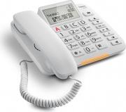 Gigaset DL380 Telefono Fisso Vivavoce Display Ampio LED Tasti Grandi Bianco