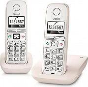 Gigaset E260 DUO Telefono Cordless Duo DECT GAP Vivavoce Tasti grandi Bianco