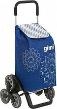 GIMI 154312 Carrello Spesa Tris Floral Blu 51x41xh102 cm