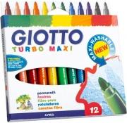 Giotto 456036 Confezione 12 Giotto Turbomaxi Nero