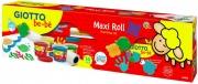 Giotto 471800 Bebe Maxi roll painting set completo di colori a dita e accessori