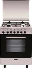 Glem Gas A654MI6 Cucina a Gas 4 Fuochi Forno Elettrico Ventilato Grill 60x50 cm