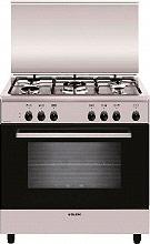 Glem Gas A855EI Cucina a Gas 5 Fuochi Forno Elettrico Grill 80x50 cm Inox