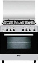 Glem Gas Cucina a Gas 5 Fuochi Forno a Gas Grill 80x50 cm Inox - A855GI
