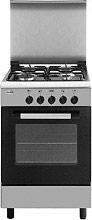 Glem Gas AE55AI Cucina a Gas 4 Fuochi Forno a Gas Grill 53x50 cm Inox