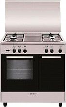 Glem Gas AR854GI Cucina a Gas 4 Fuochi Forno a Gas Grill 80x50 cm Inox