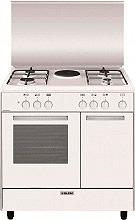 Glem Gas AR856EX Cucina a Gas 4 Fuochi Forno Elettrico Grill 80x50 cm Bianco