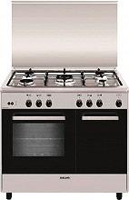 Glem Gas AR965GI Cucina a Gas 5 Fuochi Forno a Gas Grill 90x60 cm Inox