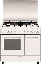Glem Gas AR965GX Cucina a Gas 5 Fuochi Forno a Gas Grill 90x60 cm Bianco