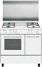 Glem Gas AER96AX3 Cucina a Gas 4 Fuochi Forno a Gas Grill 90x60 cm Bianco