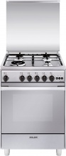 Glem Gas U664VI Cucina a Gas 4 Fuochi Forno a Gas Ventilato Grill 60x60 cm