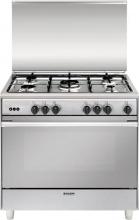 Glem Gas UN965VI Cucina a Gas 5 fuochi Forno a Gas Ventilato Grill 90x60 Inox