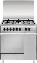 Glem Gas UQ855MI6 Cucina a Gas 5 Fuochi Forno Elettrico Grill 80x50 cm Inox