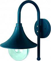 Globex Lampada Esterno Giardino Applique Parete cm 28x26x44 h Nero 3102 Senna