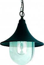 Globex Lampada Esterno Giardino Applique con Catena cm 50 Ø 26x48 h Nero 3105