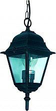 Globex Lampada Esterno Giardino Applique con Catena cm 50 15x15x47 h Nero 4105