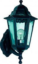 Globex Lampada Esterno Giardino Applique Parete cm 28x28x42 h Nero 6201 Brado