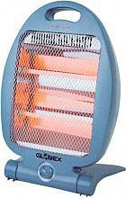 Globex CX-QNQ-11-1AGREY Stufa elettrica Infrarossi al Quarzo 800 W + Termostato