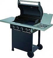 Globex Barbecue Gas da Giardino Fornello laterale Piastra Ghisa Ulisse GD4210 S