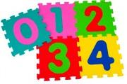 Globo 05065 Tappeto Gioco Puzzle numeri 5pz